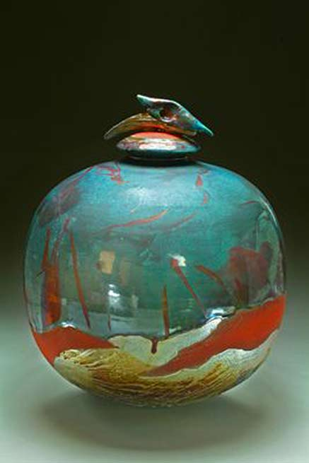 creurblue-dolphin-cremation-urn by Steven Forbes-deSoule