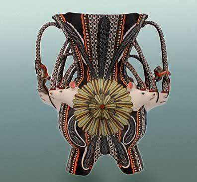 great-zambezi-masterpieces-ardmore-ceramic-art-feathered-armour-sold-sculptors-somandla-aaron-ntshalintshali-and-painter-jabu-nene