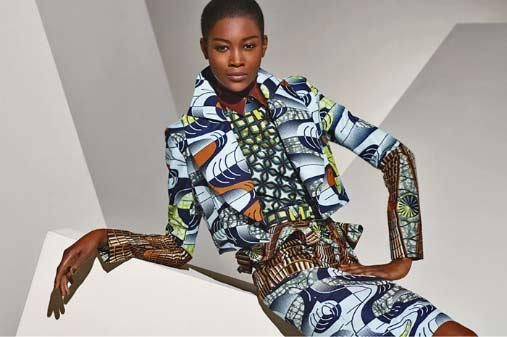 harvey-bouterse-fashion-design Vlisco geometric pattern