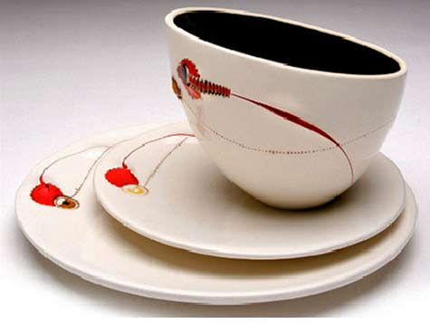 imiso-ceramics Andile-Dyalvane ceramic cup and plates
