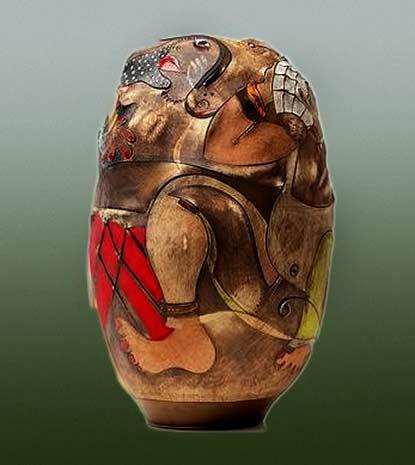 imiso-ceramics-africasso-stoneware-coiled-vase-self-portrait by Andile Dyalvane