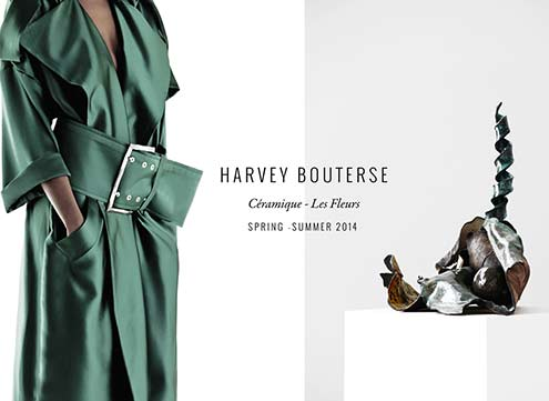 les_fleurs_08-harvey-bouterse abstract sculpture and green overcoat