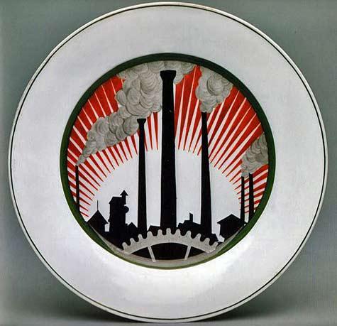 plate-silhouette-of-factory-chimneys-nina-zander-1919