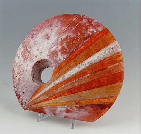 Terra-Sigillata-Iron-Chloride-Saggar sculpture by Shamai-Sam-Gibsh
