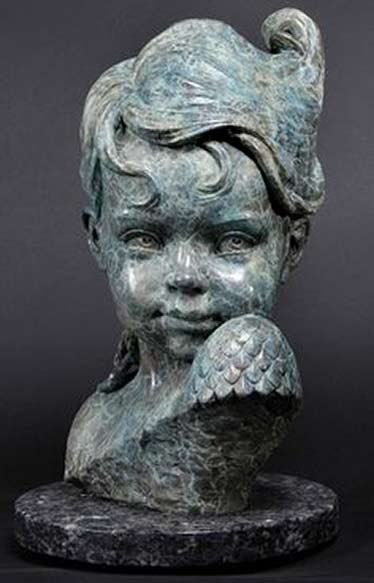 Philippe-Faraut sculpture bust of a girl