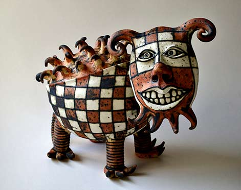 Inna-Olshansky; ceramic animal sculpture