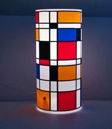Mondrian cylindrical vase