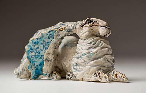 Gin-Durham---White-Hare sculpture