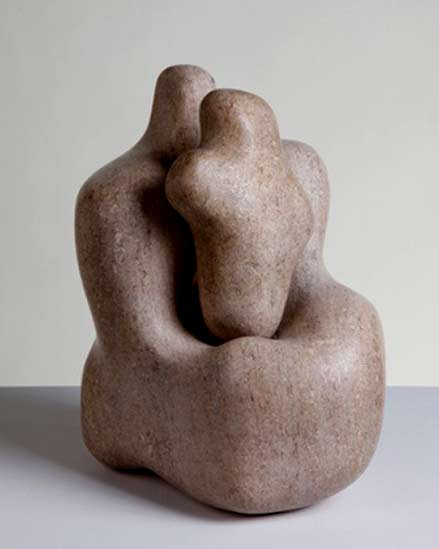 Hepworth's Mother and Child (1934), made of pink ancaster stone
