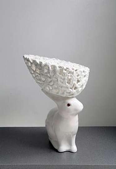 Netty-van-den-Heuvel white porcelain rabbit