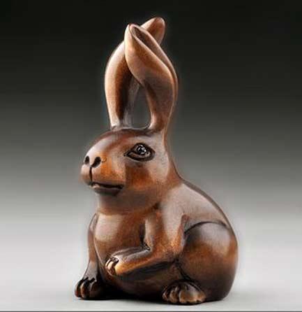 Netsuke rabbit figure