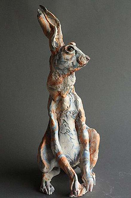 Gaynor-Osinelli,-Paul-Priest,-Artists,-2010 Orange and white hare