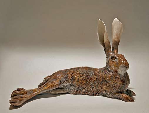 reclining hare - Nick Mackman