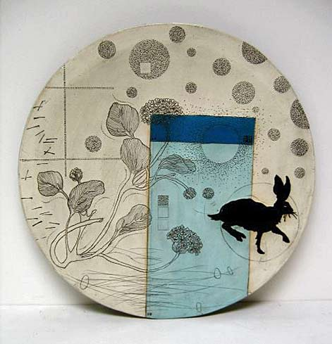 Running-rabbit-plate by-Diana Fayt