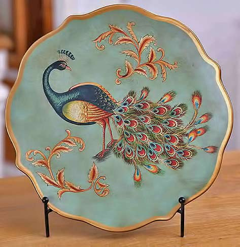 Chinese peacock plate