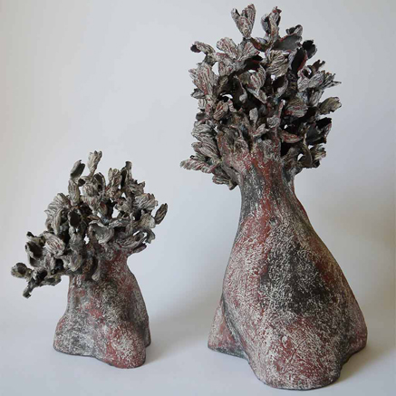 Agnes-His-ceramic sculpture trees