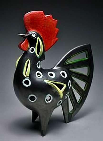 Marcello Fantoni mid century ceramic rooster