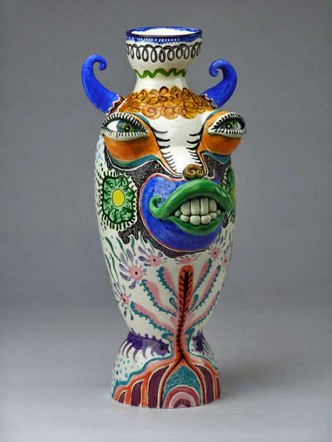 'Dandy Tiger Vase' by Jenny Orchard - 2013