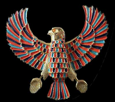 Egyptian gold Bennu pendant