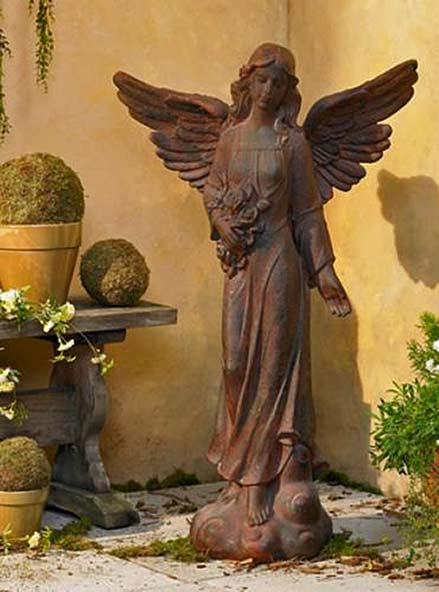 terracotta angel statue