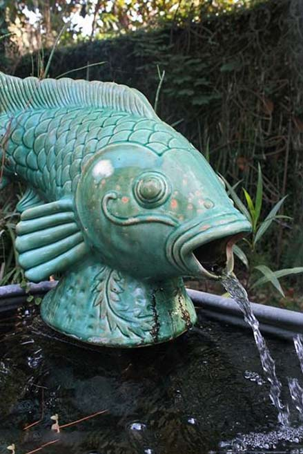 Garden Fish-fountain-at-Tybee-Island