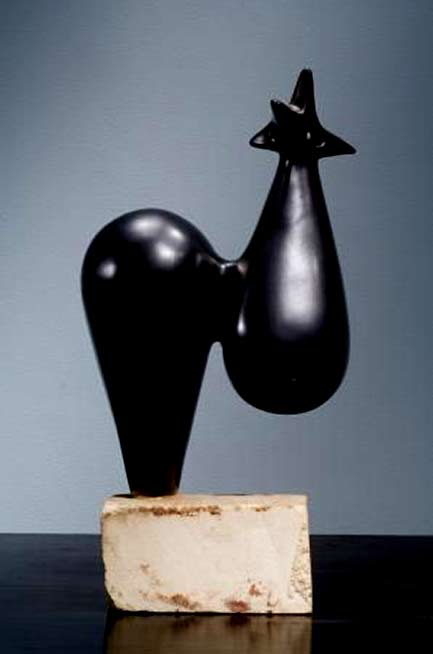 Georges-Jouve-Sculpture,-1952 - abstract rooster