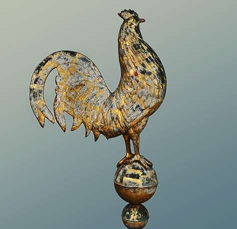 hamburg germany rooster weathervane