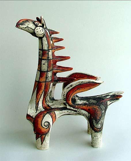 Inna-Olshansky ceramic horse