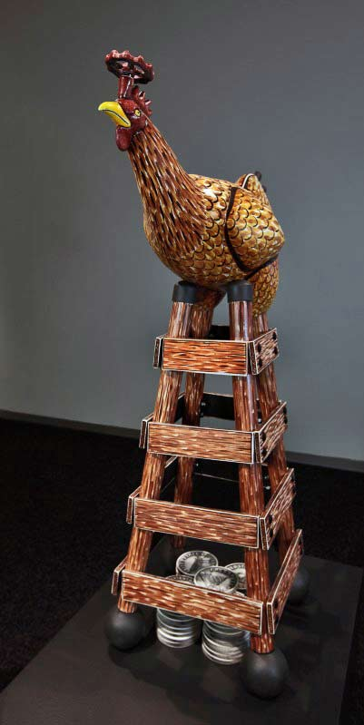 Jason-Walker, rooster sculpture