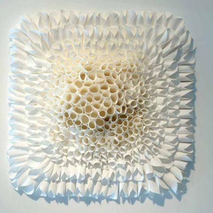 Jeanne-Opgenhaffen white ceramic art panel