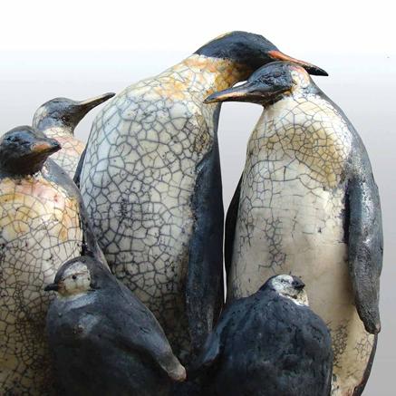 Johanna-Hair raku penguins