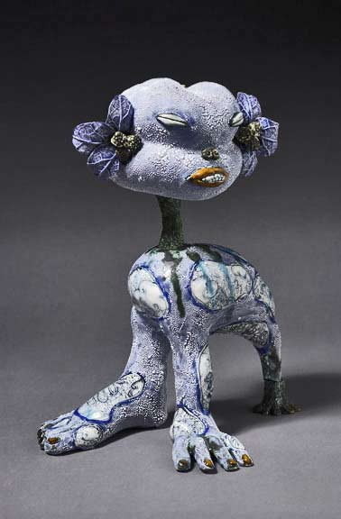 Kitty---ceramic-&-resin---Jenny-Orchard - mutation sculpture