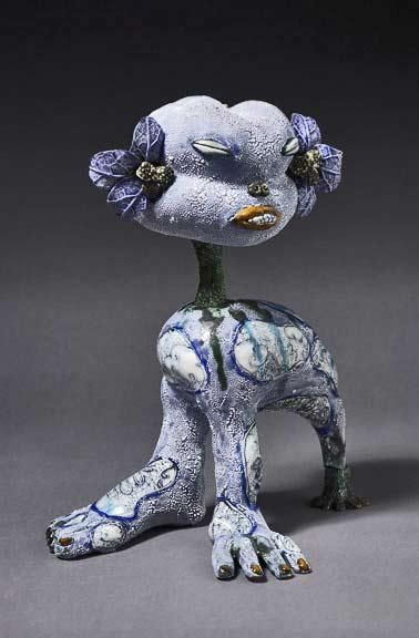 Kitty---ceramic-&-resin---Jenny-Orchard - mutation sculpture