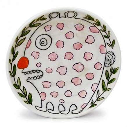 Kurt-Anderson hand painted plate