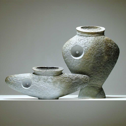 Martin-McWilliam-ceramic-contemporary vessels with textured surface