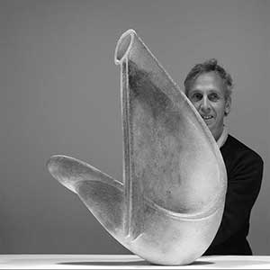 Martin McWilliam with one of his ceramic sculptures