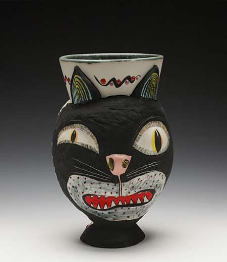 Michael-Corney cat head vase