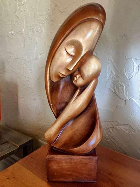 Mid-Century-Modern-Ceramic bust
