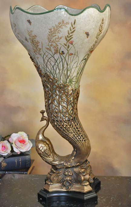 ArtDecor24 peacock vase