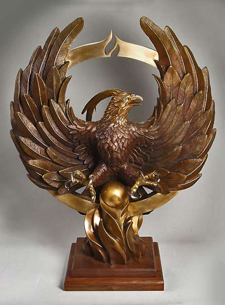 Phoenix-Rising-metal sculpture - John Hair