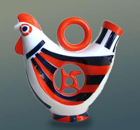 Sargadelos stylized rooster jug/ewer