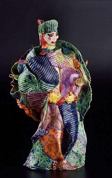 Suzy Birstein ceramic bust sculpture