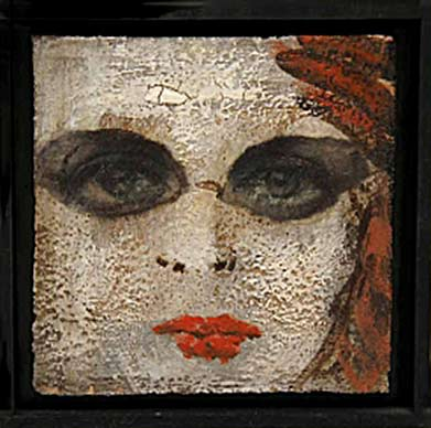 Teresa-Girones ceramic tile with female face