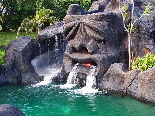 The-Tiki-Pool-sculpture head in-Duinrell