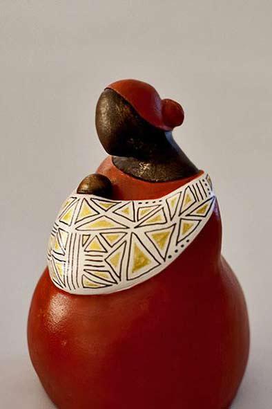 Lindy Lawler ceramic Zulu Mamma figure sculpture