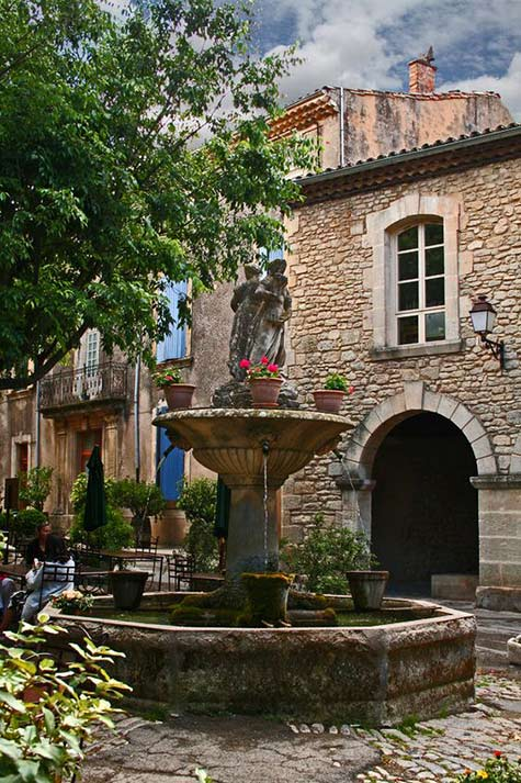 Street fountain in Provence