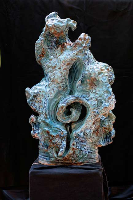 ceramic sculpture abstract wave - Mattie Leeds