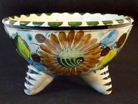 tonala-mexican-folk-art legged bowl