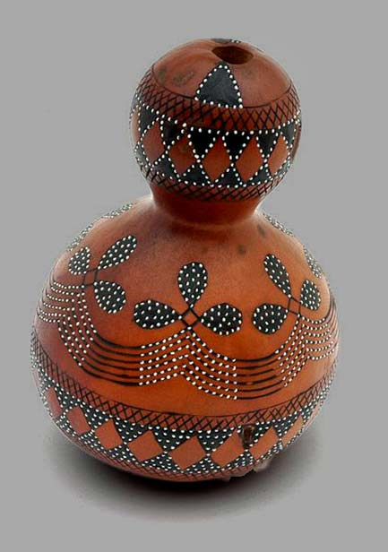 Africa--Gourd-(calabash)-container-from-the-Ronga-people-of-Mozambique