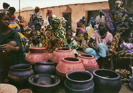 pottery market in Mali